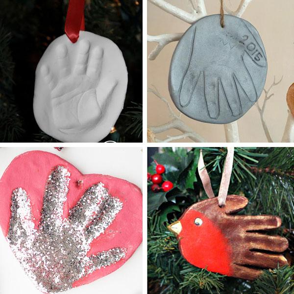 Handprint Christman crafts - ornaments 2