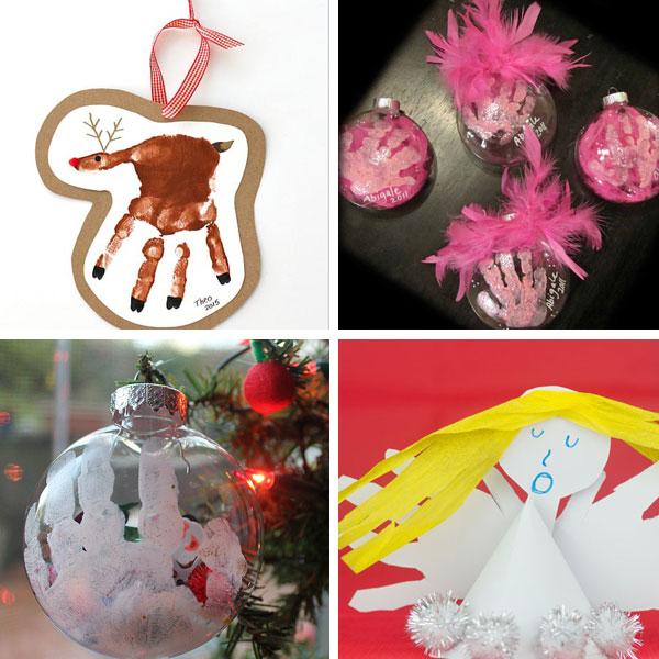 Handprint Christman crafts - ornaments 3