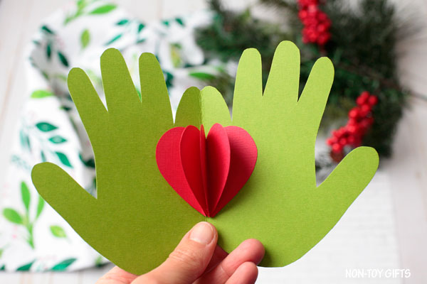 Handprint Christmas craft