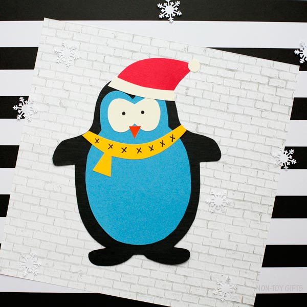 Winter animal craft for kids: penguin