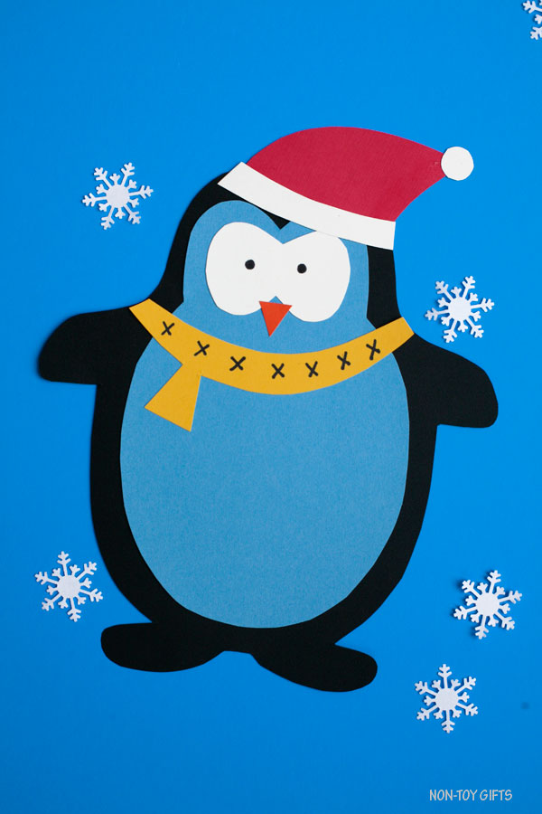 Easy Paper penguin craft for kids
