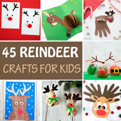 45 Reindeer crafts for kids
