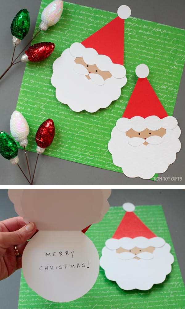 Santa card for kids