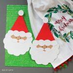Santa card for kids to make