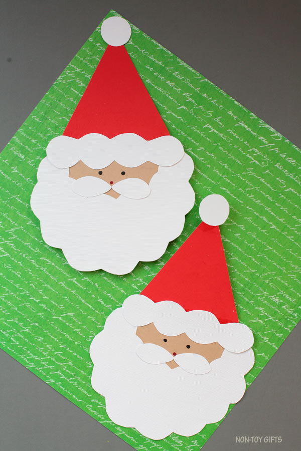 Easy DIY Santa cards with template