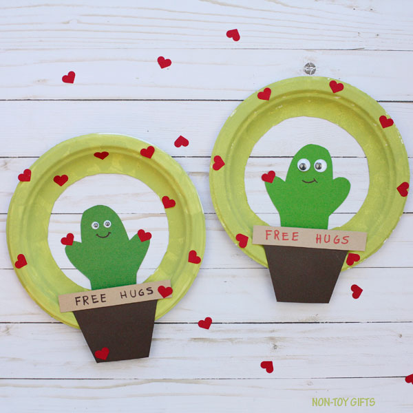 Easy Valentine cactus craft for kids
