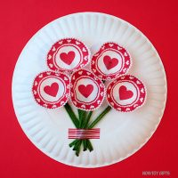 Heart cupcake liner flowers