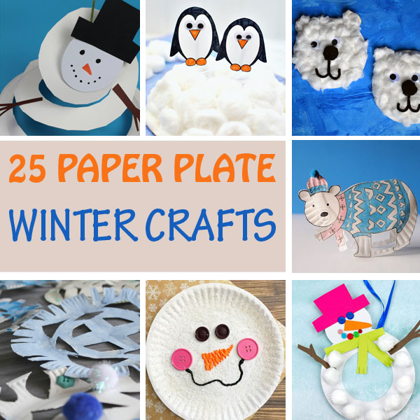 Paper plate winter crafts for kids