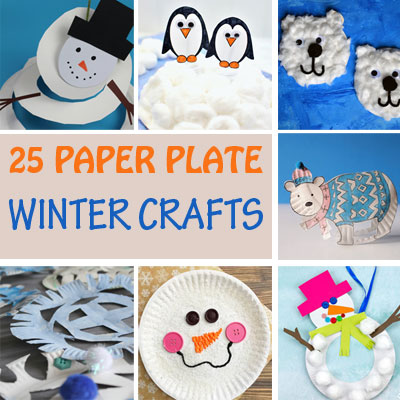 25 Paper plate winter crafts