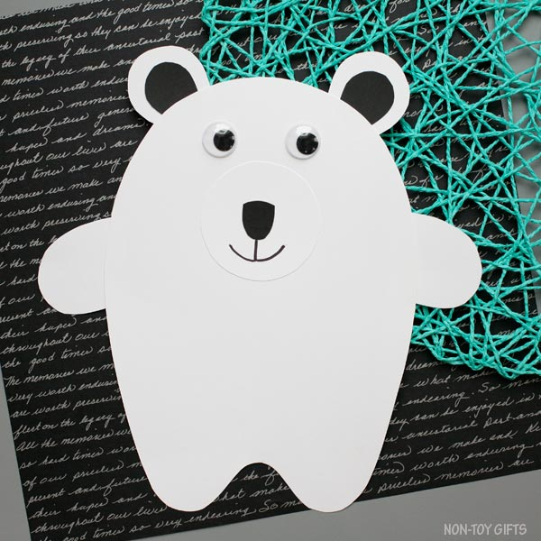 Arctic animal craft: polar bear