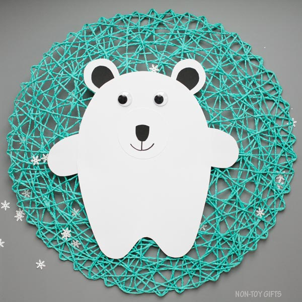 Arctic animal craft for kids: polar bear
