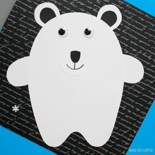 Paper polar bear craft for kids