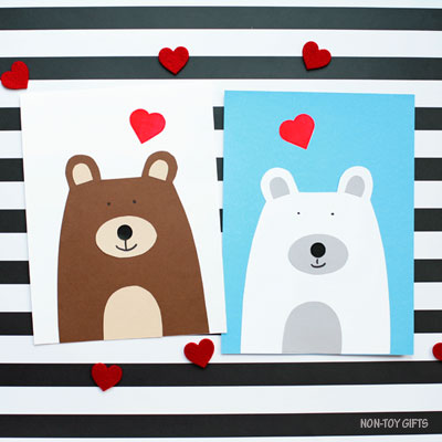 Valentine bear craft