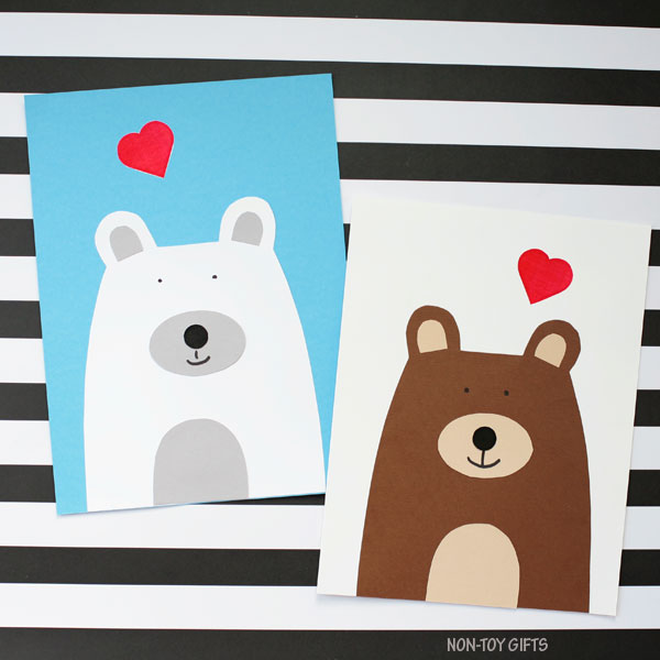 Easy Valentine's Day bear craft for kids