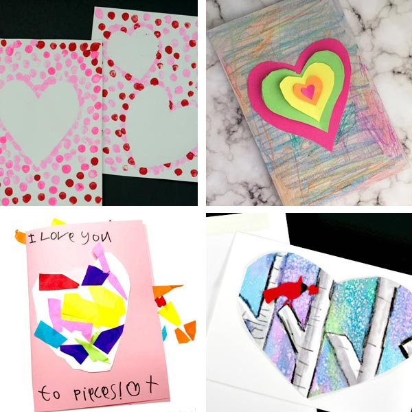 Valentine cards kids can make : heart cards 3