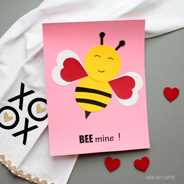 easy Valentine bee craft for kids