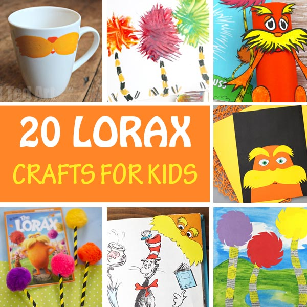 Lorax crafts for kids. Easy Dr Seuss crafts
