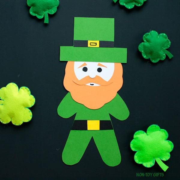 Paper leprechaun craft for kids