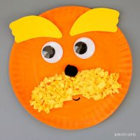 Paper plate Lorax craft
