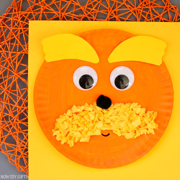 The Lorax craft for kids for Dr Seuss Day