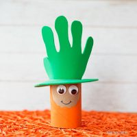 Paper roll leprechaun craft