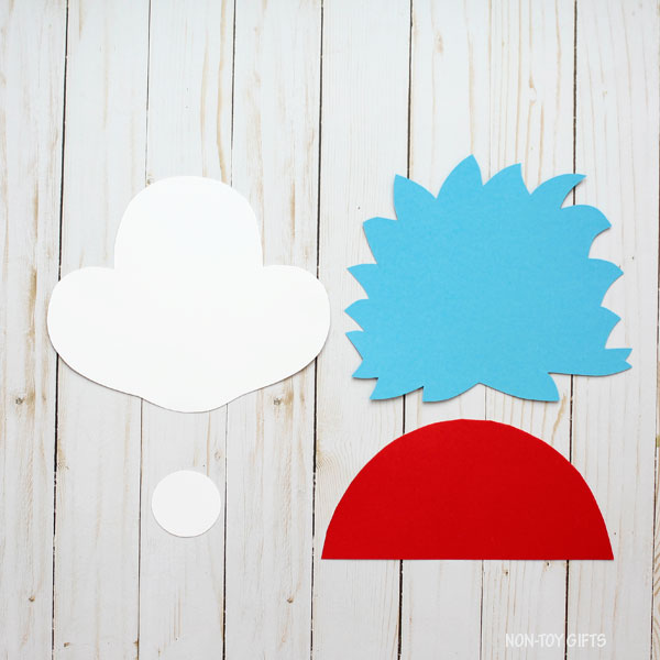 photo about Thing 1 and Thing 2 Printable Template known as Factor 1 And Point 2 Craft - Straightforward Dr. Seuss Craft For Children