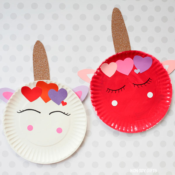 Valentine's Day unicorn craft for kids