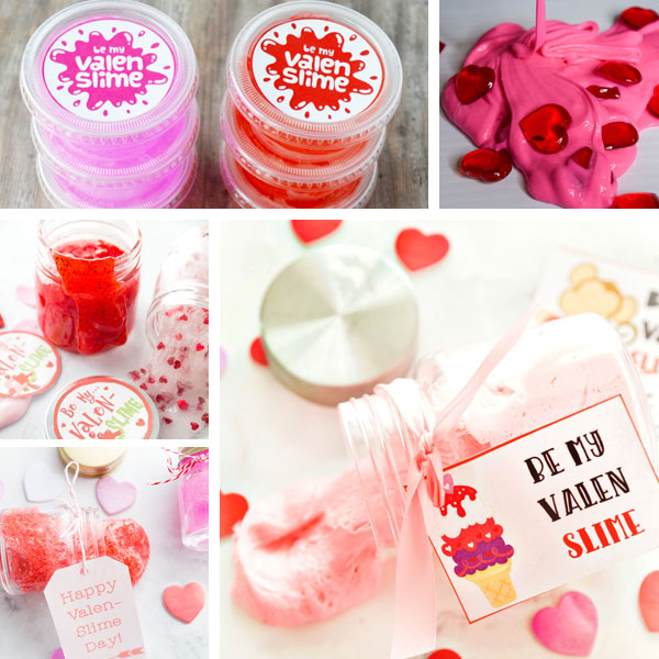 Valentines kids can make - slime