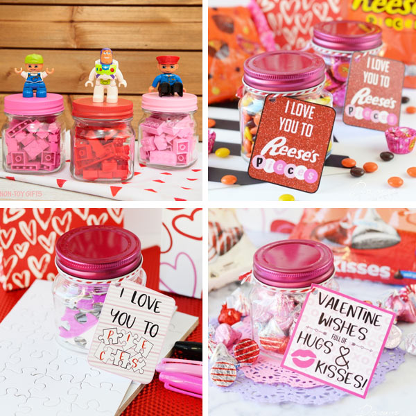 Valentines kids can make: Valentines in mini jars