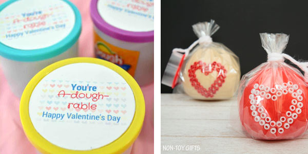 Valentines kids can make - play dough
