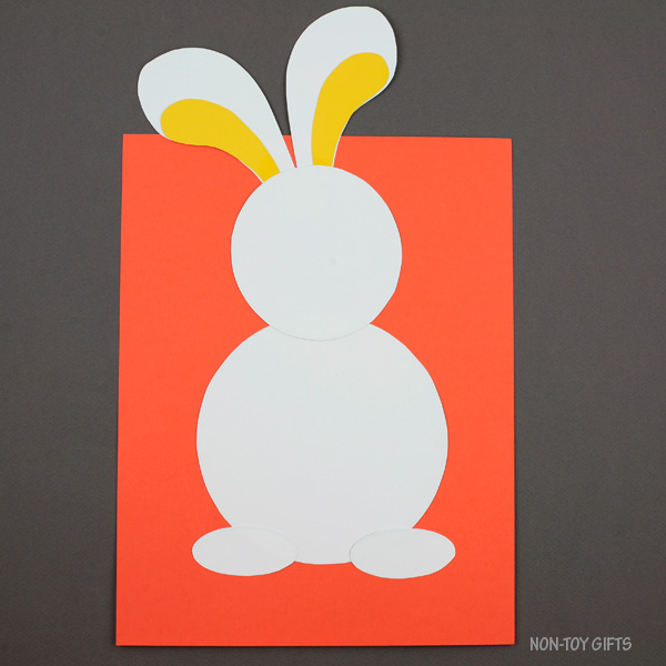 Bunny on card stock paper