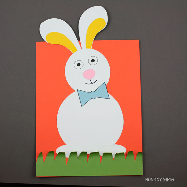 Bunny in the grass craft for kids