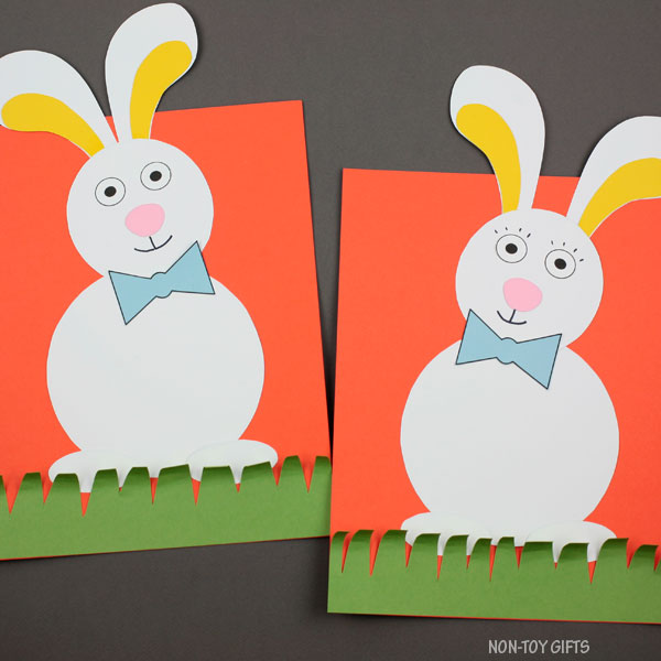 Bunny in the grass craft for kids to make this spring