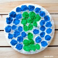 Cotton ball Earth Day craft