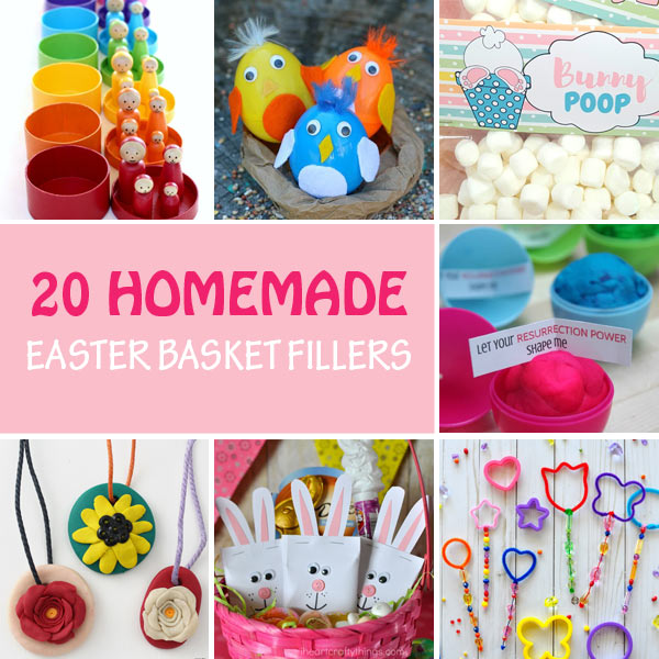 Handmade Easter basket filler ideas for kids