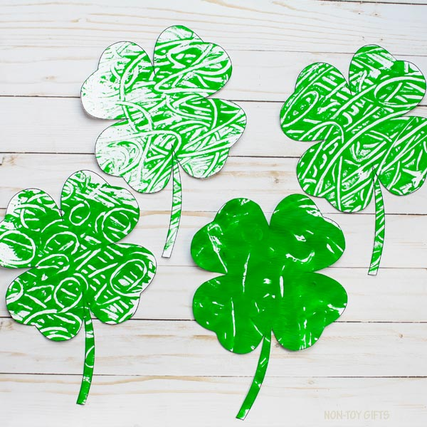 St Patrick shamrock craft kids
