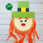 Paper plate leprechaun beard craft