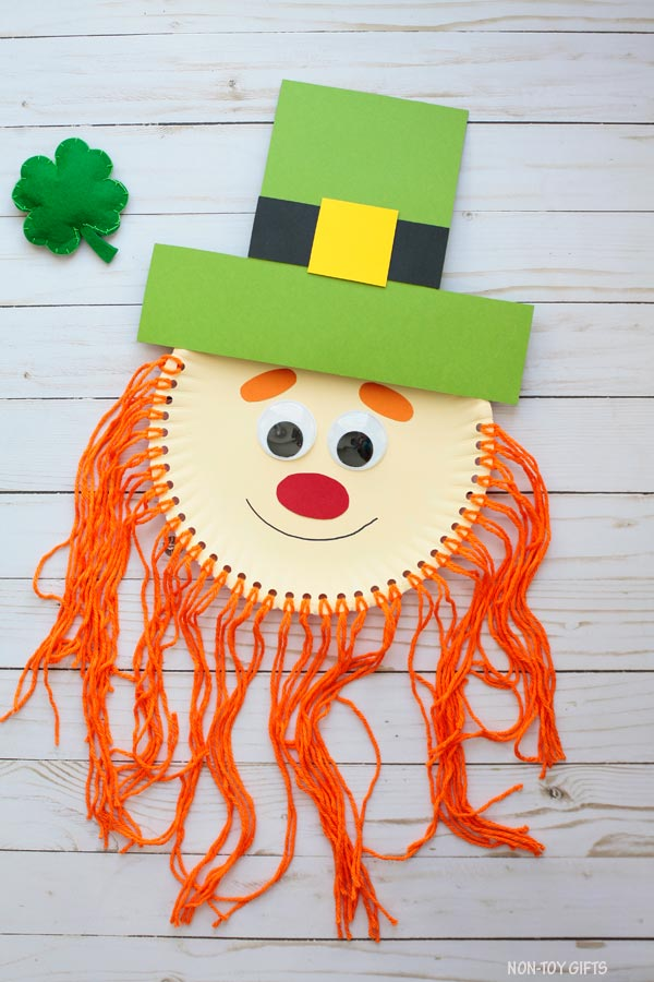 St Patrick leprechaun craft for kids