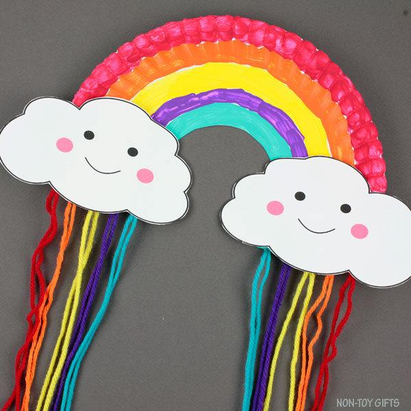 Paper plate spring craft for kids
