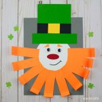 Shape leprechaun craft with curly beard