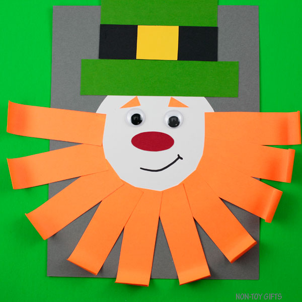 Paper leprechaun craft for kids