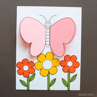 3D Butterfly craft kit for kids