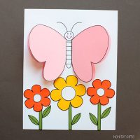 3D Paper Butterfly Craft