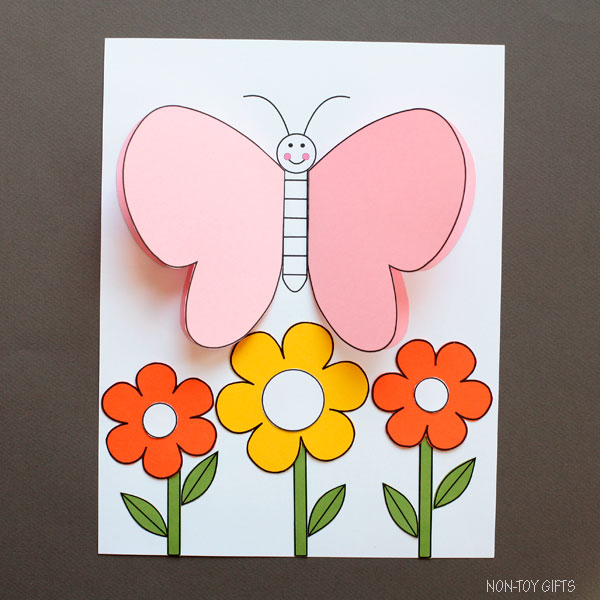 Flower and butterfly craft
