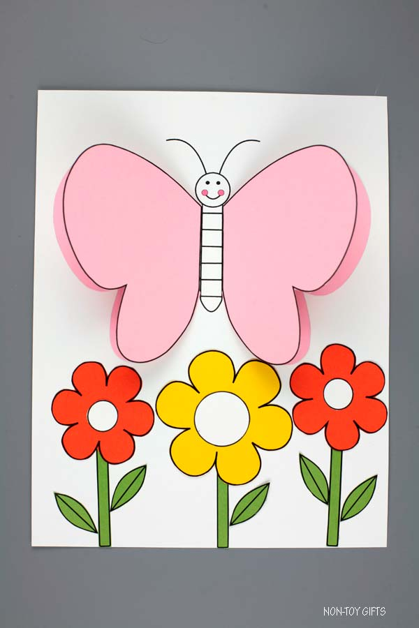 3D Butterfly craft for kids