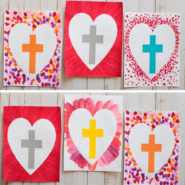 Easter cross art project - craft for kids