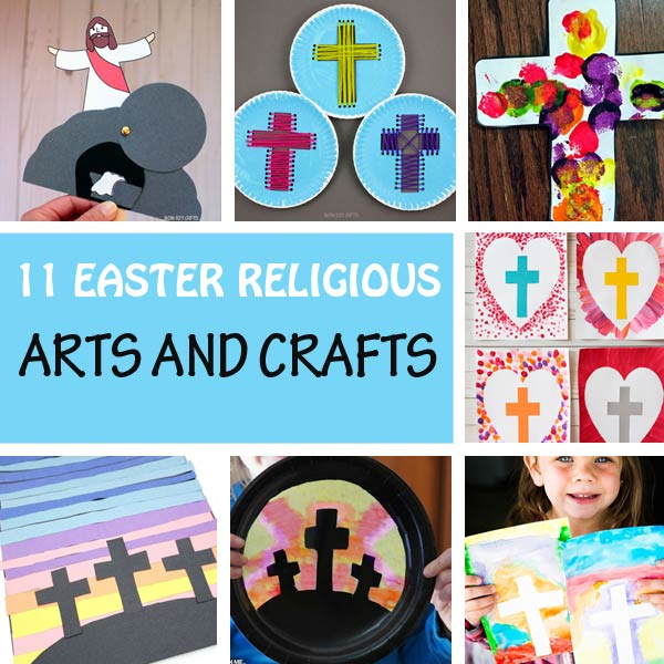 Easter religious crafts and arts for kids