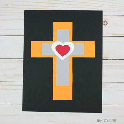 Heart cross craft