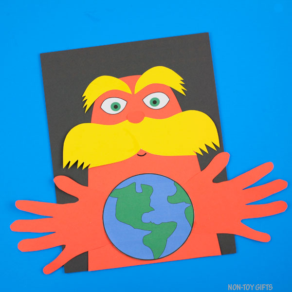 Lorax Earth Day craft for kids