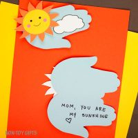 Mother's Day handprint sunshine card